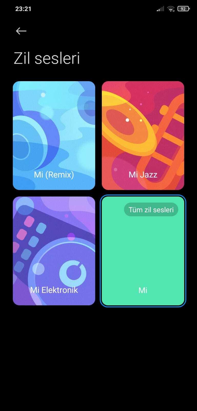Xiaomi Telefonda Bir Şarkıyı Zil Sesi Yapma ve Ayarlar - XiTekno
